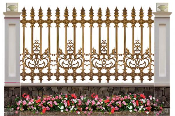hàng rào nhôm đúc mẫu HR -031