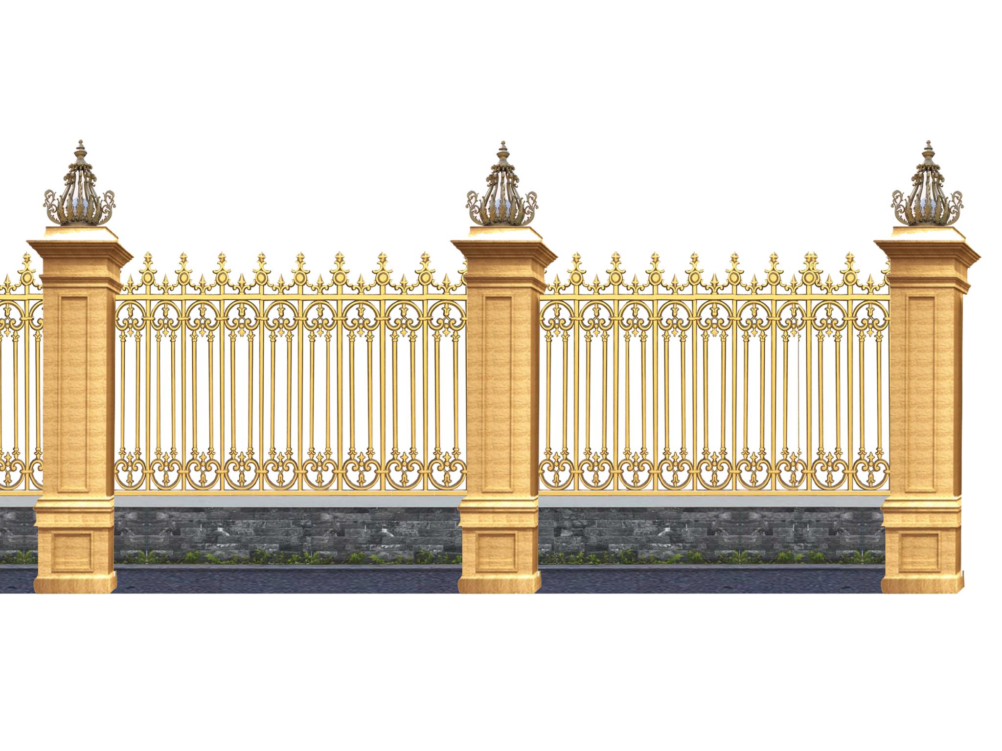 hàng rào nhôm đúc mẫu HR -037