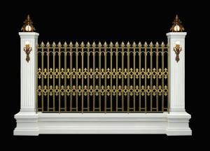 hàng rào nhôm đúc mẫu HR -041