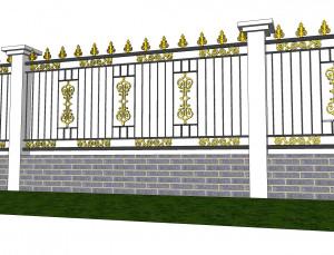 hàng rào nhôm đúc mẫu HR -038