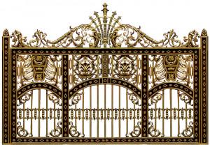 hàng rào nhôm đúc mẫu HR -035